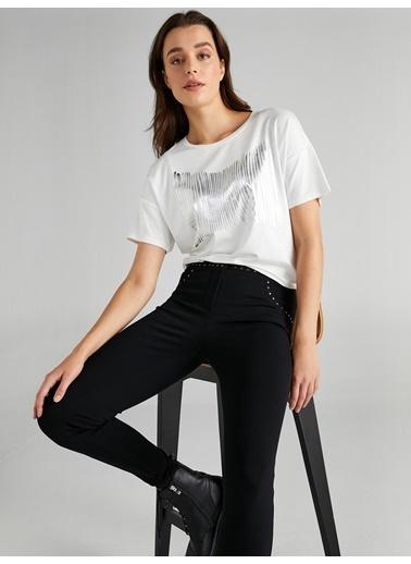 Faik Sönmez  Trok Detaylı Skinny Fit Çelikli Örme Pantolon 61567 Siyah